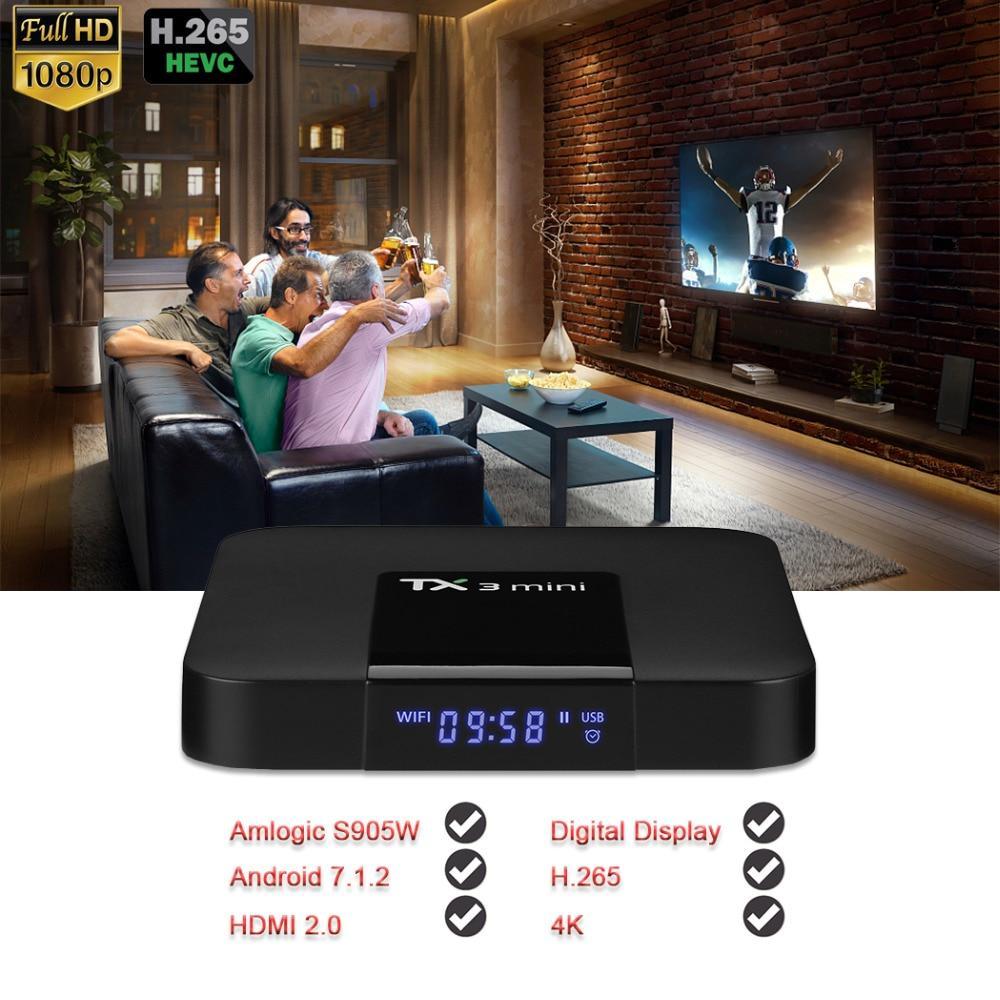 TX3 Mini Android 7.1.2 Tv Box Smart TV H2.65