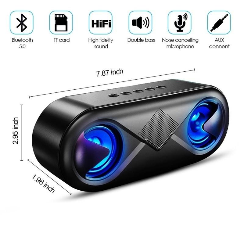 HiFi Bluetooth 5.0 LED Speaker