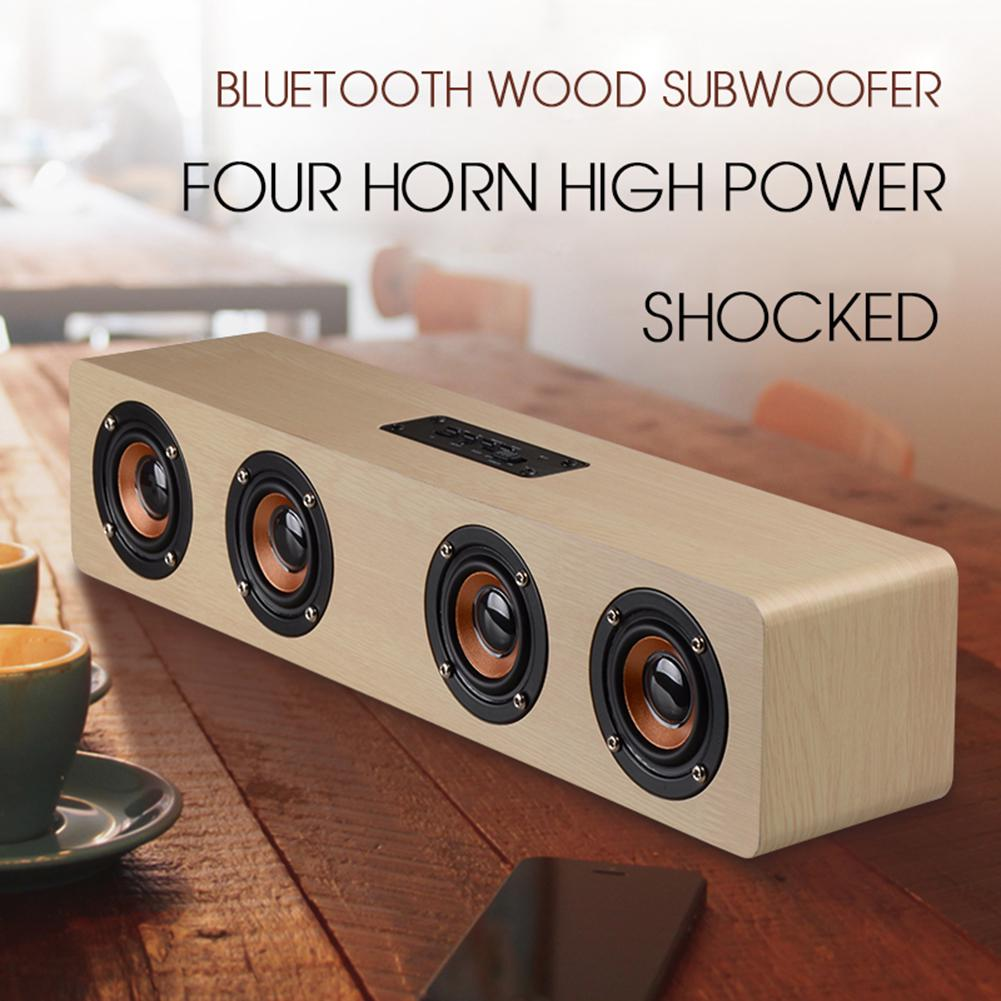 TV FM Wooden Home Subwoofer