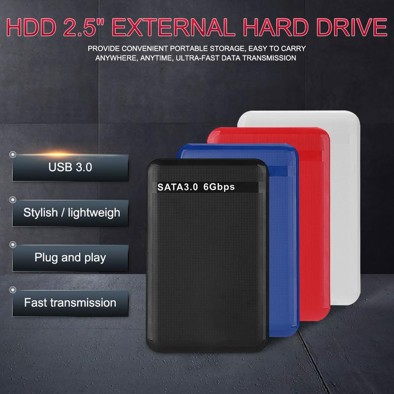 2.5 Inch USB3.0 SATA3.0 Mobile Hard Disk High Speed 6Gbps 500G 1TB 2TB Portable Data Storage Transmi