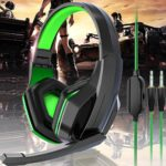 Gaming Headset 3.5mm Over-Ear Headphone Microphone For NS Switch For PS4