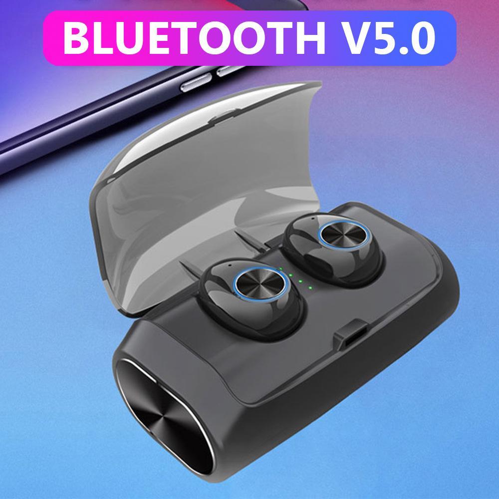 Bluetooth 5.0 Earphones Stereo Earbud Completely Waterproof Wireless In-ear Earbuds
