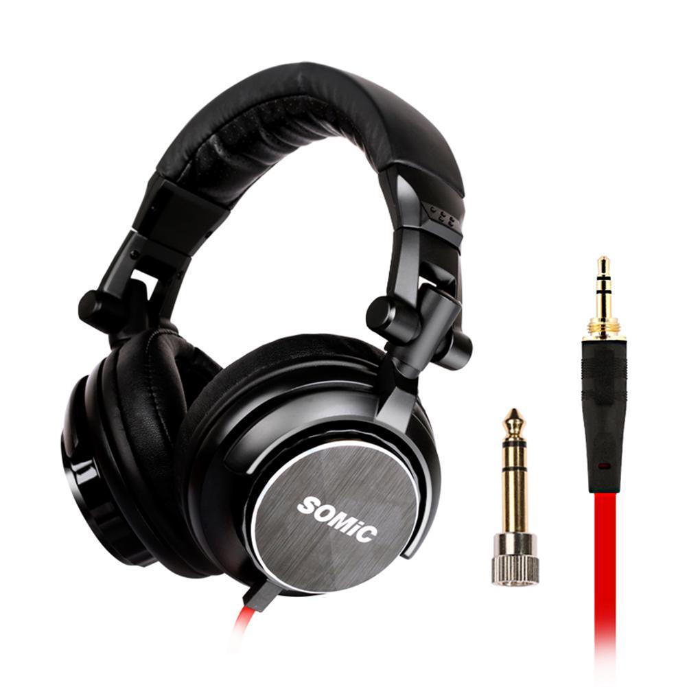 SOMIC MM185 Professional DJ HIFI Stereo Monitor Foldable Wired Headphone