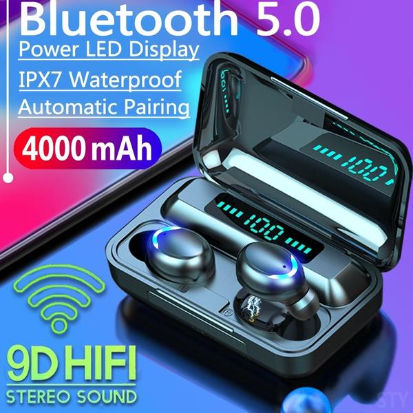 2020 9D HiFi Bluetooth 5.0 CVC8.0 Noise Reduction Stereo Wireless TWS Bluetooth Headset LED Display Headset Waterproof Dual Headphones